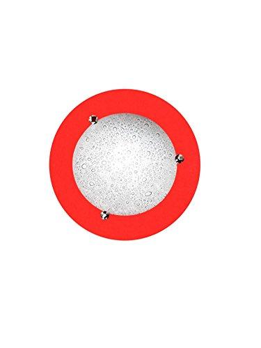 Lampada da soffitto piatto in Silestone di vivaci colori modello Miño rosso