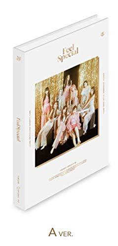 JYP TWICE - Feel Special [A ver.] (8º mini álbum) CD+88p libro de fotos + papel de letras + 5 tarjetas de fotos + tarjeta de fotos doradas + juego de tarjetas de fotos extra de doble cara