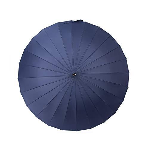DeHolifer Übergroße Herren Business Regenschirm Handbuch Öffnen und Schließen Regenschirm Langer Regenschirm mit 24 Rippen, langlebig und stark genug Multi-Color Optional