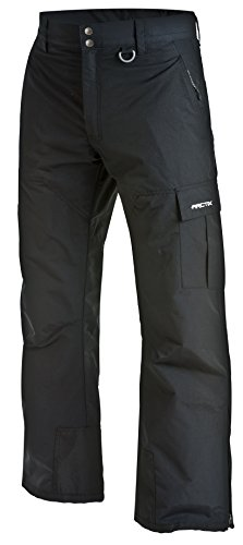 Arctix Men's Mountain Premium Snowboard Cargo Pants, Black, Medium (32-34W 32L)