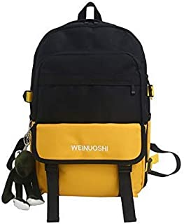 Backpack Hit Men's and Women's Shoulder Bags, Outdoor Travel Backpacks, Large-Capacity Waterproof Multi-Function Backpacks 30cm x 12.5cm x 43.5cm Red (Color : Yellow, Size : 30cm x 12.5cm x 43.5cm)