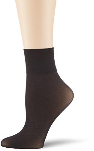 KUNERT Damen Glanz Fein Socken, 163000 Satin Erscheinungsbild 20, Gr. 39/42, Schwarz (Black 0500)