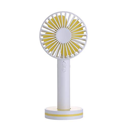 Tragbarer Handventilator Home Travel handliche Mini niedlichen Cartoon USB Gebühr Tischventilator Büro Mini Fan (Color : White)
