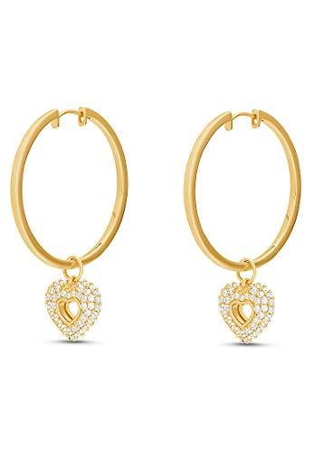 JETTE Silver Damen-Creolen Silber 98 Zirkonia One Size Gold 32012088