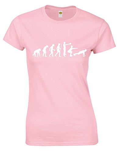 Crown Designs Evolution of Crossfit Cool Regalo para Mujeres y Adolescentes - Bebe Rosa/S - 6/8
