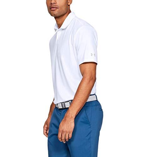 Under Armour Herren Solide Leistung 2.0 Golf-Polo-Hemd - Weiß - L