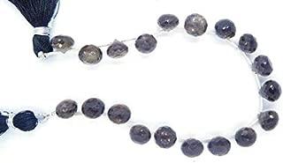 "Jewel Beads Natural Beautiful jewellery Smoky Quartz Natural Gemstone 7-8 Mm Faceted Onion Shape Beads 8"" Strand onion beads,briolette beads,onion shape,onion briolettesCode:- JBB-18975"