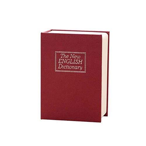 Piore Creatief Woordenboek Boek Spaarpotten Spaarpot Met Slot Verborgen Geheim Beveiliging Kluis Slot Geld Munt Opbergdoos, rood