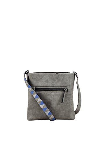 s.Oliver (Bags Damen 39.801.94.4510 Umhängetasche, Grau (Pebble Grey), 3x26x27 cm