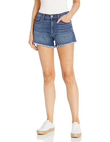 7 For All Mankind womens for All Mankind Jeans Denim Shorts, Blue Nova, 25 US