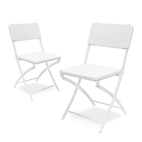 chaise de jardin blanche leclerc