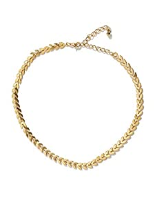 OOMPH Jewellery Gold & Silver Delicate Fashion Necklace for Women & Girls