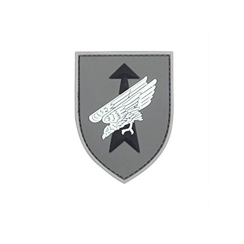 Copytec Patch Fallschirmjäger 3D Rubber Paratrooper Luftwaffe Bundeswehr Einheit Militär Klett Morale Uniform Infidel 7x5,5cm #23284