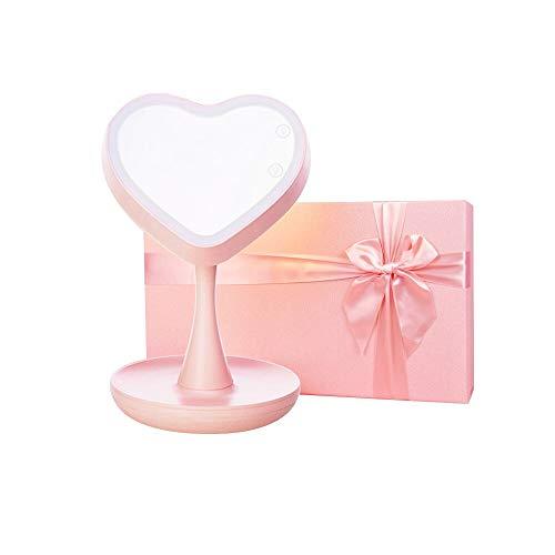 HPLDEHA Miroir cosmétique Lampe LED Creative Cherry Blossom Cadeau de Mariage Pratique Poudre Type de Conservation de l'énergie de Charge boîte-Cadeau