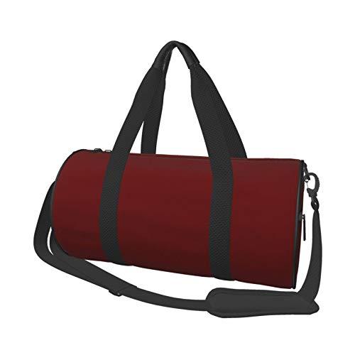Bolsa de deporte para gimnasio, ligera, potable, de lona, bolsa de hombro, color rojo burdeos, de gran capacidad, para deportes, viajes, multifunción, bolsa para gimnasio, fitness, etc