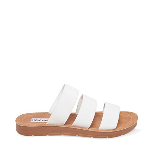 Price comparison product image Steve Madden Women's Pascale Sandal,  White,  8 M US