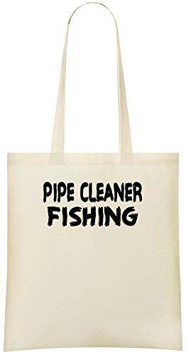 Pfeifenreiniger Angeln - Pipe Cleaner Fishing Custom Printed Shopping Grocery Tote Bag 100% Soft Cotton Eco-Friendly & Stylish Handbag For Everyday Use Custom Shoulder Bags