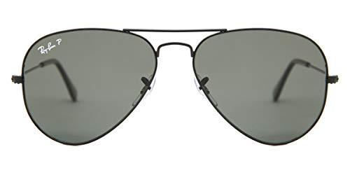Ray-Ban schwarz polarisierten Green Klassischen G-15 55mm AVIATOR LARGE METAL Sonnenbrillen