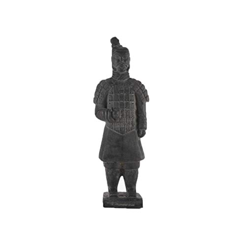 lachineuse FANTASSIN Chinois Statuette - Terre Cuite - 29 cm Hauteur