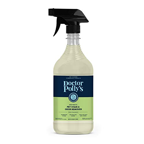 Pickle & Polly All Natural Enzyme Stain and Odor Eliminator for Pets   Powerful Cleaner for Dog and Cat Urine   Spot Cleaner for All Animal Messes (32oz)