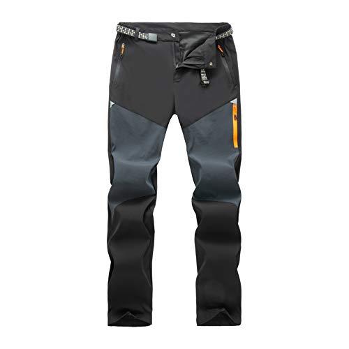 LY4U Pantalones de Senderismo para Hombre, Resistentes al Viento, cómodos, cálidos, para Escalada, Senderismo, Casual, para Primavera, Verano, otoño