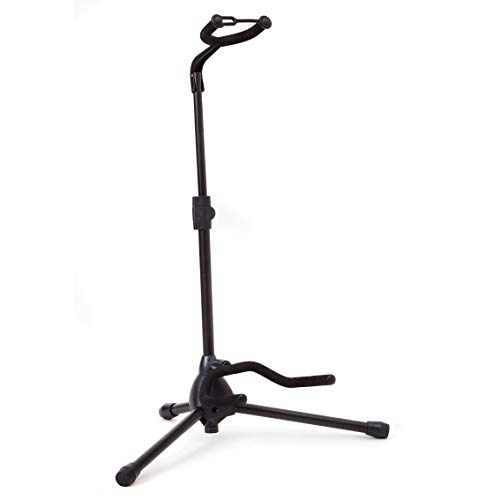 Universal Guitar Stand by Hola! Music - Fits Acoustic, Classical, Electric, Bass Guitars, Mandolins,...