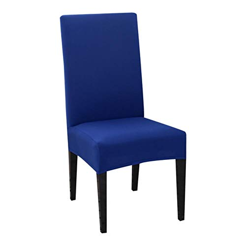 New Solid Color Chair Cover Spandex Stretch Elastic Slipcovers Chair Covers White for Dining Room Banquet Hotel Kitchen Wedding,Space Blue,United States
