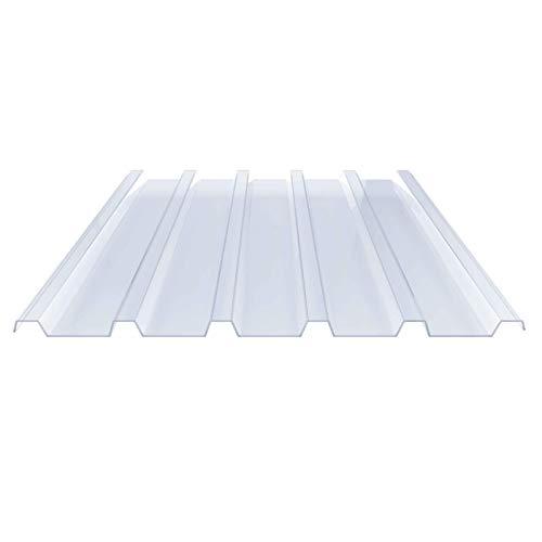 Lichtplatte | Spundwandplatte | Profil 183/40 | Material PVC | Breite 955 mm | Stärke 1,5 mm | Farbe Klarbläulich