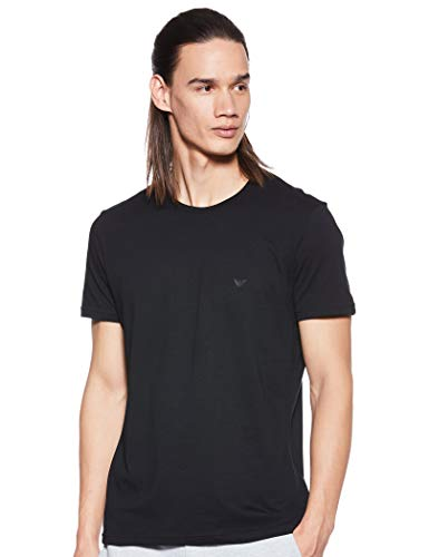 Emporio Armani Men's Cotton Crew Neck T-Shirt, 3-Pack, Black, Medium