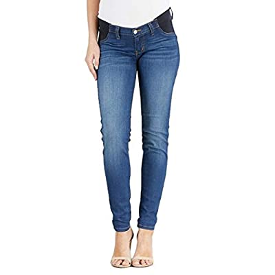 Women's Maternity Jeans Elastic Waist Band Skinny