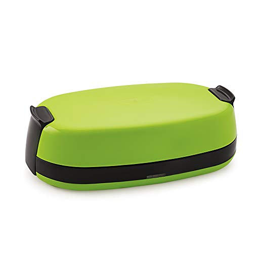 Nexx Hott-2 740 ml, 90 W Electric Lunch Box for Office Men, Portable Lunch Warmer with Removable Stainless Steel Container, Green, Made in India