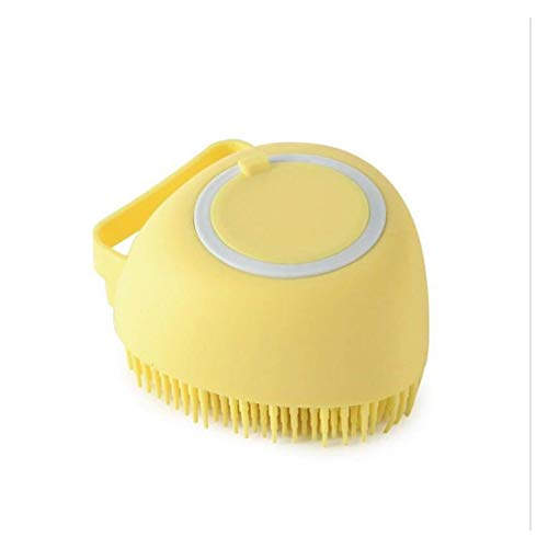 Brosse en Silicone Magic Exfoliant Douche Brosses De Body Brush Bath Ménage Douche Nettoyable Salle de Bains Accessoires DE Soin (Color : 1PC Yellow)