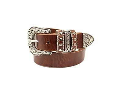 M&F Western Girl's Nocona Triple Loops Belt (Little Kids/Big Kids) Brown 26