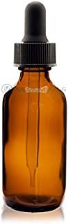 Premium Vials B37-12AM Boston Round Glass Bottle with Dropper, 2 oz Capacity, Amber (Pack of 12)