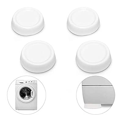 Relaxdays Vibration Absorbing Dampers for Washers White PVC 4-Piece Set