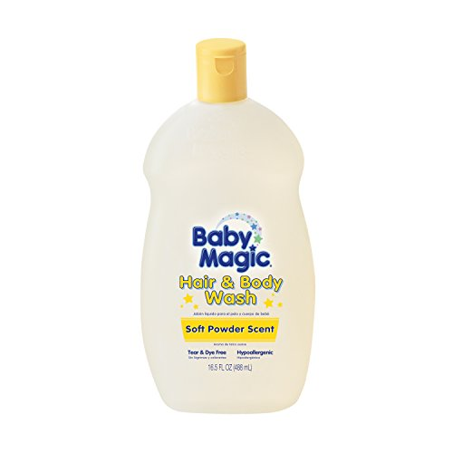 Baby Magic Hair and Body Wash, Soft Powder Scent, 16.5 Fl Oz (Pack of 6)