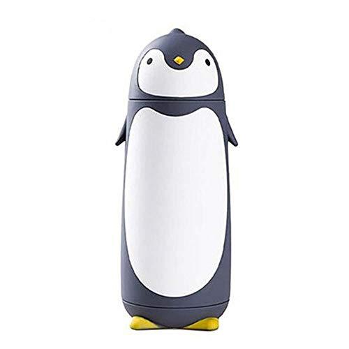 AILEE 280 ml Kinder Edelstahl Pinguin-Becher 280 ml Pinguin-Becher Flasche Flasche Flasche Isolierkanne grau