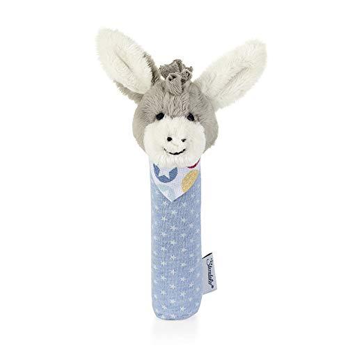 Sterntaler Greif-Quietsche Esel Emmi, Alter: 0-36 Monate, Größe: 18 cm, Farbe: Hellblau/Grau