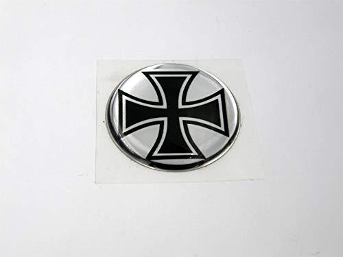3D Doming Aufkleber rund Eisernes Kreuz (2er Set)