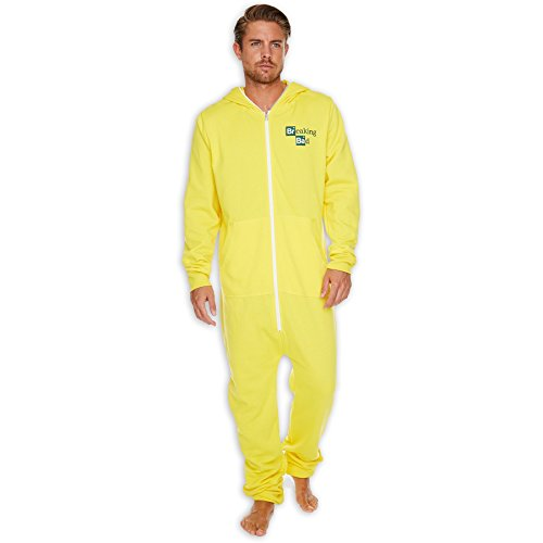 Mens Yellow Breaking Bad Cook Suit Onesie by The Gro Company