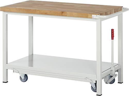 RAU A5-8000-6-12F BASIC-8-Modell 8000 Absenkbare Werkbank, Ral 7035 Lichtgrau