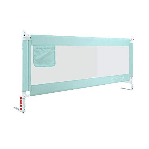 Barrières de lit LHA Garde-Corps de lit bébé Enfant Garde-Corps incassable 150 cm, 180 cm, 200 cm, 220 cm (Couleur : Green, Taille : L-180cm)