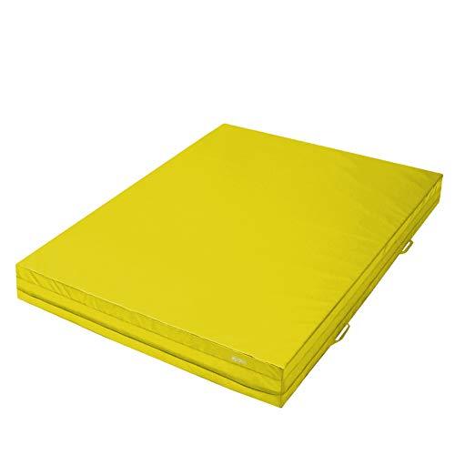 ALPIDEX Weichbodenmatte 200 x 150 x 20 cm mit Tragegriffen und Anti-Rutschboden, Farbe:Dunkelgrün