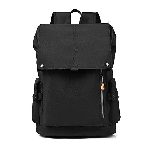 Zaino per Laptop Impermeabile con USB per Uomo, Zaino Multifunzionale, Dispositivo Antifurto, Zainetto per Lavoro, Grande capacità,Black-36/55L