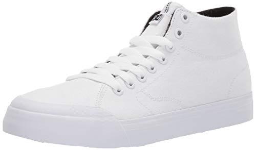 DC Women's Evan HI Zero TX Skate Shoe, White, 9.5 M US