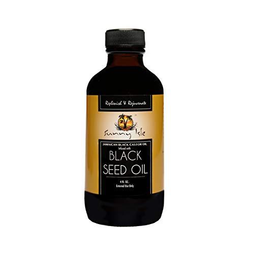 Sunny Isle Jamaican Black Castor Oil, Infused With Black Seed Oil, Black, 4 Fluid Ounce