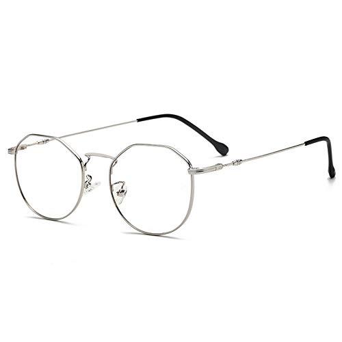 WWDKF led-monitorbril, blauw, effectief, tegen UV400, absorbeert blauw licht, voorkomt vermoeidheid van de ogen, retro-metalen bril, uniseks, voor computer PS4