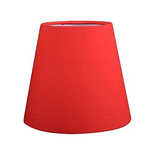 1 Set von Clip On Lampenschirm, Tischlampenschirm, Wandleuchte, Nachttisch, Lampenschirm, Lampenschirm, E27 für Schlafzimmer, Esszimmer, Flur, Wohnzimmer rot
