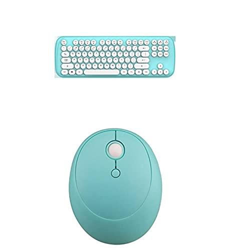 TYTG Accessoires pour Ordinateur Portable Clavier Combo Bluetooth 2.4g Double Connexion sans Fil Rétro Girl Girl Office Computer Accessoires Accessoires informatiques (Color : Blue)