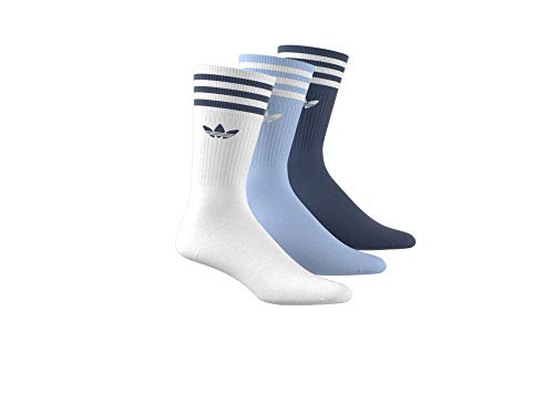 adidas Solid Crew Sock 3-Pack Navy Marine Clear Sky White 39-42